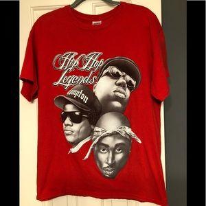 Tupac Biggie smalls hip hop band concert shirt L